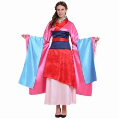 高品質 高級コスプレ衣装 ディズニー風 ムーラン ファ・ムーラン姫 タイプ オーダーメイド Asian Hua Mulan Dress Costume Women
