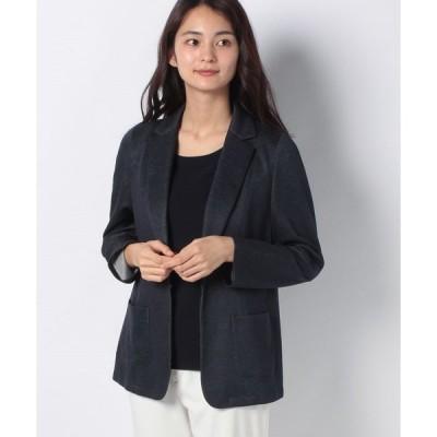 【ラピーヌ ブランシュ】メランジリバー テーラードジャケット