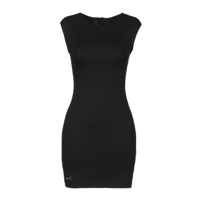 PHILIPP PLEIN ミニワンピース&ドレス ブラック XS レーヨン 60% / ポリエステル 35% / ポリウレタン 5% ミニワンピー