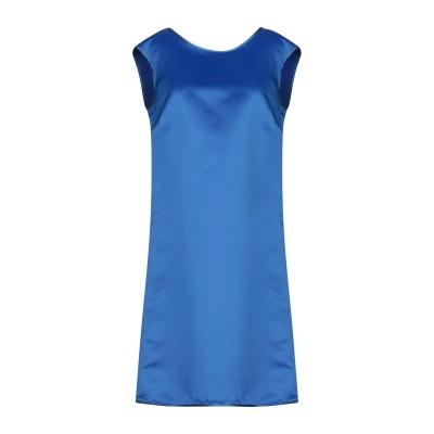 LANACAPRINA ミニワンピース&ドレス ブルー 44 ポリエステル 80% / コットン 20% ミニワンピース&ドレス