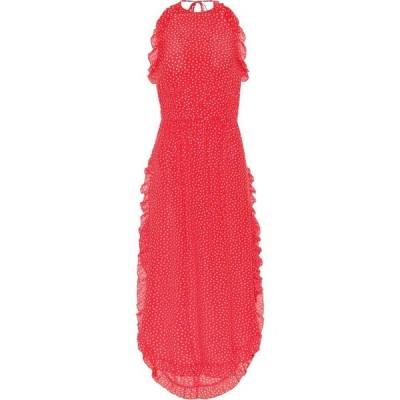 クロエ See By Chloe レディース ワンピース ミドル丈 ワンピース・ドレス polka-dot crepe midi dress Red - Pink