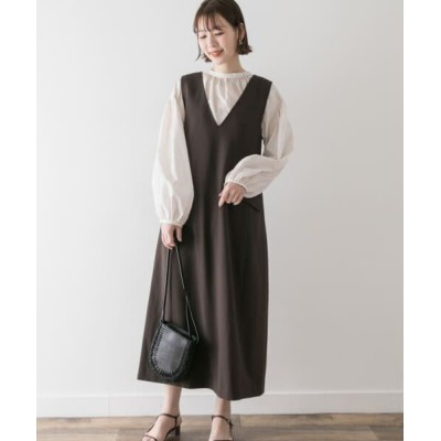 URBAN RESEARCH ROSSO/アーバンリサーチ ロッソ F by ROSSO Aラインジャンパースカート BROWN 36
