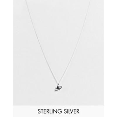 エイソス メンズ ネックレス・チョーカー アクセサリー ASOS DESIGN sterling silver neckchain with planet pendant in silver SILVER