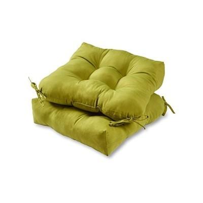 送料無料 Greendale Home Fashions AZ6800S2-KIWI Lime Outdoor Dining Seat Cushion (Set of 2)