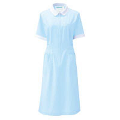 KAZENKAZEN ワンピース半袖 (ナースワンピース) 医療白衣 サックスブルー(水色) 3L 050-71(直送品)