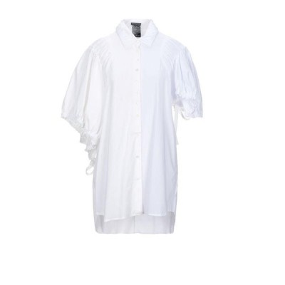 Ann Demeulemeester アンドゥムルメステール 柄入りシャツ&ブラウス  レディースファッション  トップス  シャツ、ブラウス  長袖 ホワイト