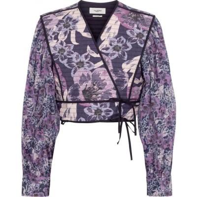 イザベル マラン Isabel Marant, Etoile レディース ベアトップ・チューブトップ・クロップド トップス halita floral cropped blouse Faded Night