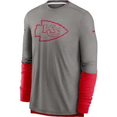 ナイキ Nike メンズ 長袖Tシャツ ドライフィット トップス Kansas City Chiefs Sideline Dri-Fit Player Long Sleeve T-Shirt