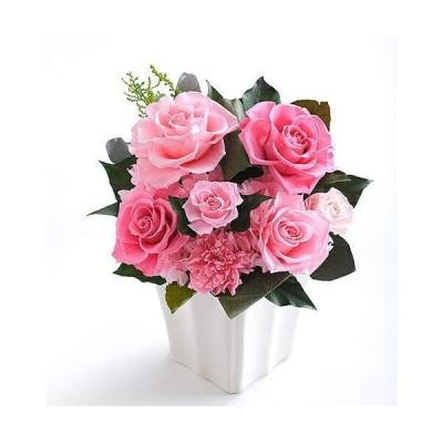 プレゼント 花 プリザーブドフラワー #モナコM ピンク(オールプリザ) バラ 女性 花 ギフト 母の日 父の日 誕生日 結婚 開業 開店