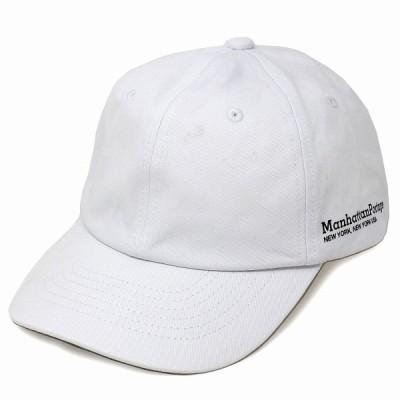 キャップ 白 ブランド マンハッタンポーテージ レディース 綿100% メンズ ベースボールキャップ バッグブランド 6パネルキャップ ホワイト