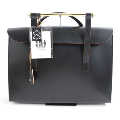 未使用品□80周年記念 PORTER ポーター/吉田カバン タグ付き レザー ミュージックケース LL ブラック 保存袋付き