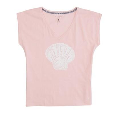 Tシャツ ノーティカ Nautica レディース Seashell Graphic Vネック Tシャツ