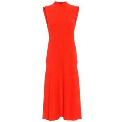 ヴィクトリア ベッカム Victoria Victoria Beckham レディース ワンピース ノースリーブ ミドル丈 ワンピース・ドレス Sleeveless crepe midi dress Flame Red