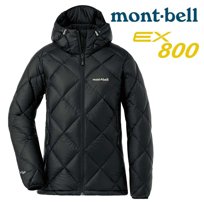 【mont-bell 日本】Light Alpine 輕量羽絨連帽外套 羽絨夾克 女款 黑色 (1101533)