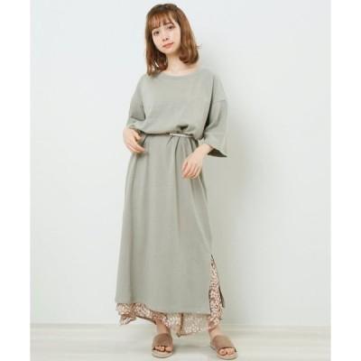 【レイカズン】ピグメントTシャツワンピース