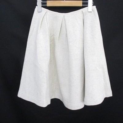 【中古】ダイアグラム グレースコンチネンタル Diagram GRACE CONTINENTAL 膝丈 フレアスカート 36 白 オフホワイト