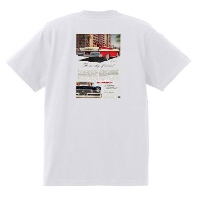 アドバタイジング マーキュリーTシャツ 白 1227 黒地へ変更可 1957 ターンパイク モナーク コロニーパーク メテオ モントクレア レトロ
