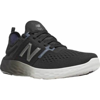 ニューバランス メンズ スニーカー シューズ Men's New Balance Fresh Foam Sport v2 Slip-On Running Shoe Black/Thunder