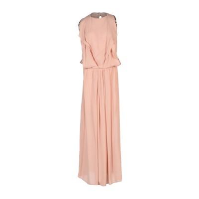 8PM ロングワンピース&ドレス ローズピンク XXS レーヨン 100% ロングワンピース&ドレス
