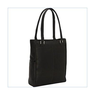 Piel Leather Vertical Laptop Tote, Black, One Size並行輸入品