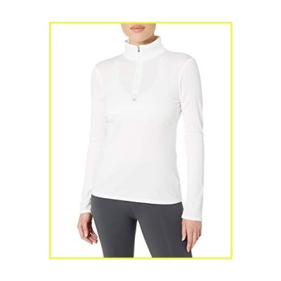 Spyder Women's Tempting Zip T-Neck ? Ladies Pullover Long Sleeve Active Shirt, X-Small, White並行輸入品