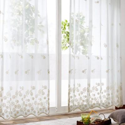 わたげのようなトルコ刺繍のレースカーテン シャンパンゴールド 約100×78(2枚)▲ 約100×88(2枚)▲ 約100×98(2枚)▲ 約100×103(2枚)▲ 約100×108(