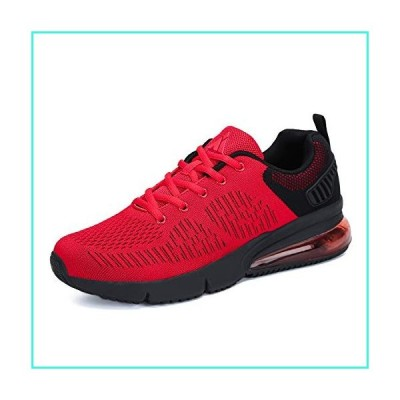 【新品】Mishansha Womens Mens Breathable Athletic Running Shoes Air Cushion Walking Gym Non Slip Fashion Sneakers Red(並行輸入品)