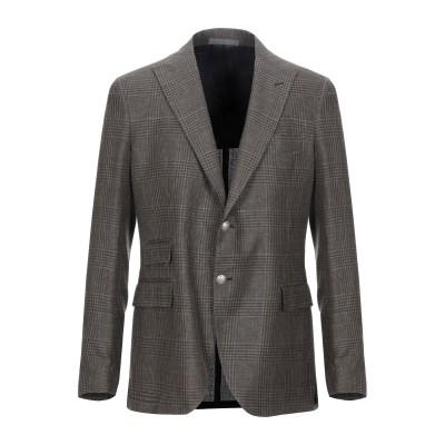 イレブンティ ELEVENTY テーラードジャケット ダークブラウン 50 リネン 49% / ウール 32% / シルク 19% テーラードジャケ