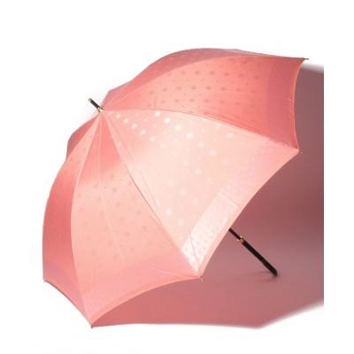 (LANVIN en Bleu(umbrella)/ランバンオンブルーカサ)LANVIN en Blue(ランバン オン ブルー)長傘 カチオンジャガード/レディース オレンジ