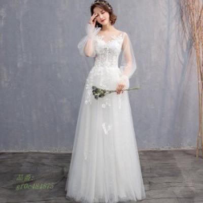 挙式 花嫁 ウェティグドレス ウェティグドレス 二次会 大きいサイズ ウエディング ドレス 結婚式 安い エンパイア Aラインドレス パーテ