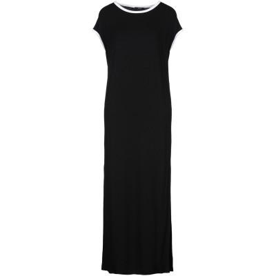 カルラ ジー CARLA G. ロングワンピース&ドレス ブラック 40 レーヨン 95% / ポリウレタン 5% ロングワンピース&ドレス