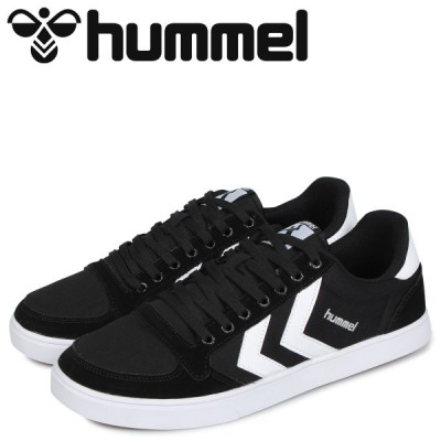 hummel ヒュンメル スリマー スタディール ロー キャンバス スニーカー メンズ SLIMMER STADIL LOW CANVAS ブラック 黒 HM63112K-2114
