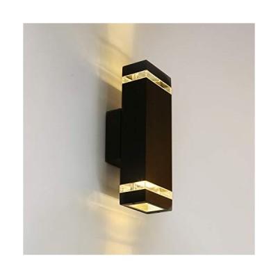 [新品]LANFU LED Wall Sconce Waterproof Porch Light 12W, IP65 Waterproof Outdoor Up/Down Light Black Modern Waterproof Wall Lamps Warm