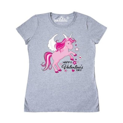レディース 衣類 トップス Happy Valentine's Day Unicorn Women's T-Shirt Tシャツ