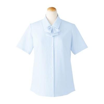 セロリーセロリー(Selery) 半袖ブラウス ブルー 19号 S-36692 1着(直送品)