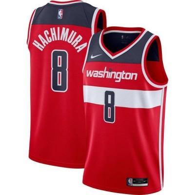 ナイキ メンズ シャツ トップス Nike Men's Washington Wizards Rui Hachimura #8 Red Dri-FIT Icon Jersey