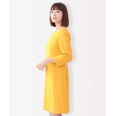 (Tara Jarmon/タラジャーモン)TOILE DOUBLE カラー切替ドレス/レディース イエロー