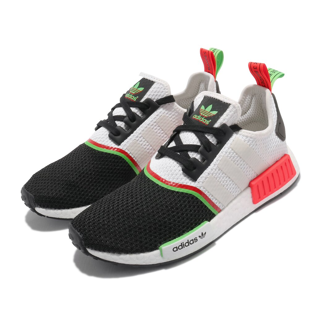 ADIDAS 休閒鞋 NMD_R1 襪套式 男女鞋 海外限定 愛迪達 BOOST 情侶鞋穿搭 白 黑 [FY2425]