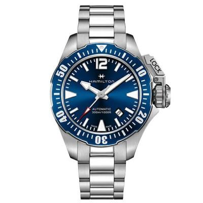 取寄品 HAMILTON 腕時計 ハミルトン 正規品 H77705145 カーキ ネイビー フロッグマン Khaki Navy Frogman オートマティック 自動巻き メンズ腕時計 送料無料