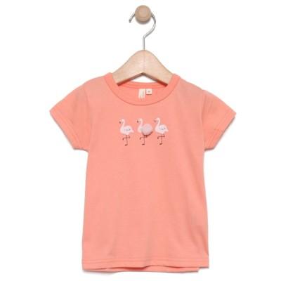【ラーゴム/LAGOM】 ポンポン付フラミンゴTシャツ