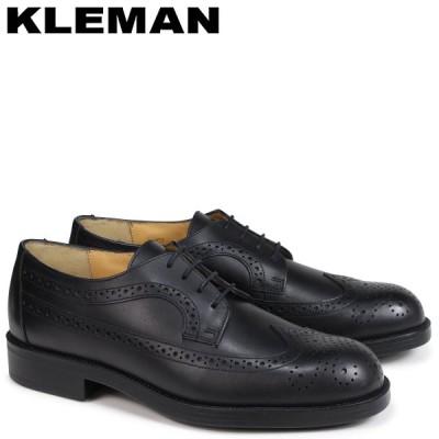 訳あり BOX破損 KLEMAN クレマン 靴 ウイングチップ シューズ メンズ WING TIP SHOES SUFOLO ブラック 黒 VA75102 返品不可