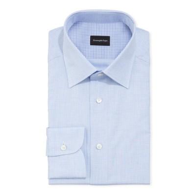 エルメネジルド・ゼニア メンズ シャツ トップス Men's Gingham Check Regular-Fit Dress Shirt