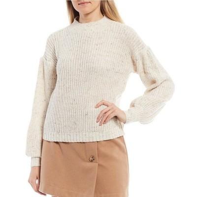ジービー レディース パーカー・スウェット アウター Mock Neck Long Sleeve Sweater