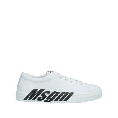 エムエスジーエム MSGM スニーカー&テニスシューズ(ローカット) ホワイト 35 革 スニーカー&テニスシューズ(ローカット)