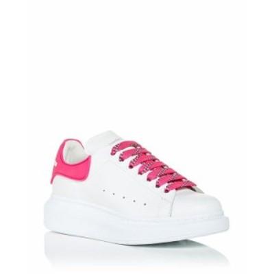 アレキサンダー・マックイーン レディース スニーカー シューズ Women's Oversized Rubber Heel Detail Sneakers White/Pink