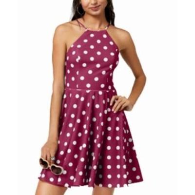 ファッション ドレス City Studio Pink Size 1 Junior Polka Dot Print Halter A-Line Dress