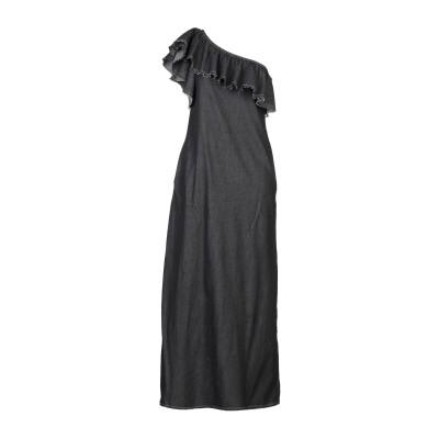 BACKGROUND ロングワンピース&ドレス スチールグレー S コットン 100% ロングワンピース&ドレス