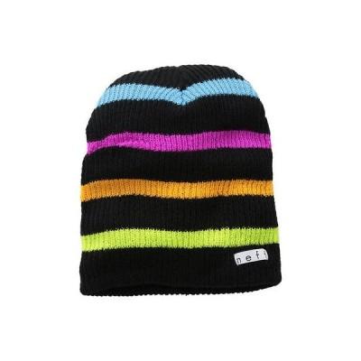 ネフ ヘッドウェア 帽子 ハット ビーニー ニット帽 Neff 帽子 キャップ ハット - Neff ビーニー - Daily ストライプ - マルティプル カラー ワンサイズ