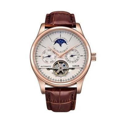 男性 腕時計 高級 ファッション ブランド 革 LIGE