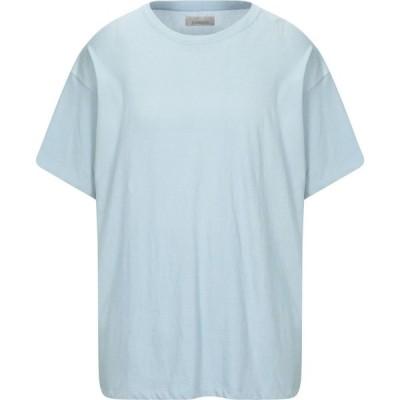 ラネウス LANEUS メンズ Tシャツ トップス T-Shirt Sky blue